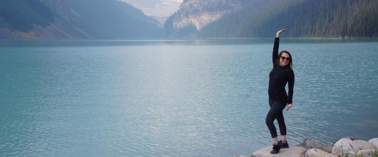 Alana adult with CF at Lake Louise