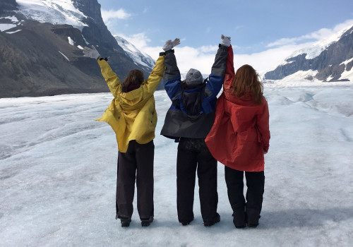 Alana adult with CF at Ice glacier Canada