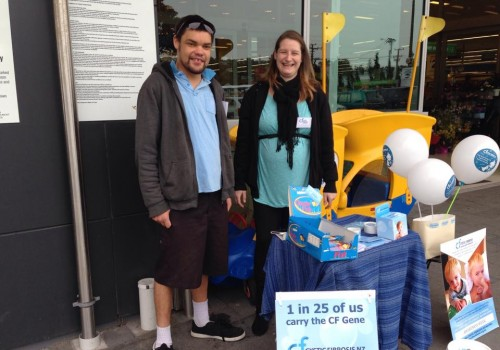 CF Awareness Week 2016 collectors in Auckland